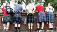 Schottland Kilt Kilts Tradition Fußball Fans Fußballfans
