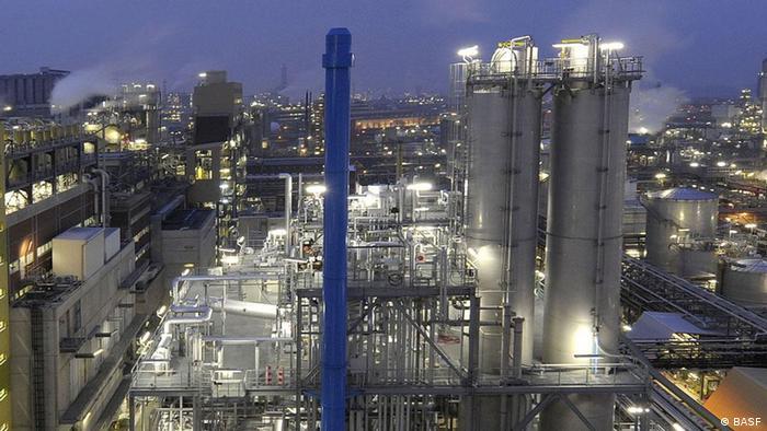 Chemical company BASF plant producing biodegradable plastic