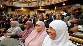 Ägypten Parlament zusammengetreten in Kairo Eröffnung