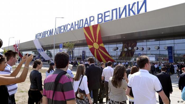 Mazedonien Flughafen Alexander der Große eingeweiht in Skopje