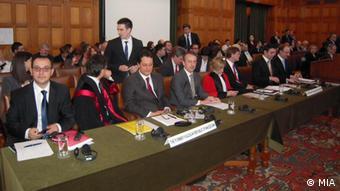 Anhörung zum Namensstreit zwischen Mazedonien und Griechenland vor Internationalem Gerichtshof in Den Haag