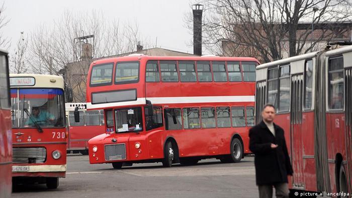 Bus Busse Skopje Mazedonien Öffentlicher Nahverkehr (picture alliance/dpa)