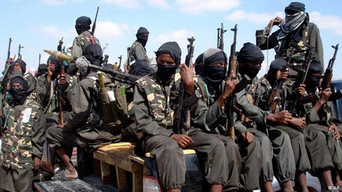 """شبهنظامیان """"الشباب"""" در اطراف موگادیشو"""