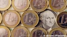 EU USA Währung Dollar-Euro Symbolbild