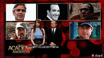 Jennifer Lawrence and Tom Sherak announcing best actor nominations