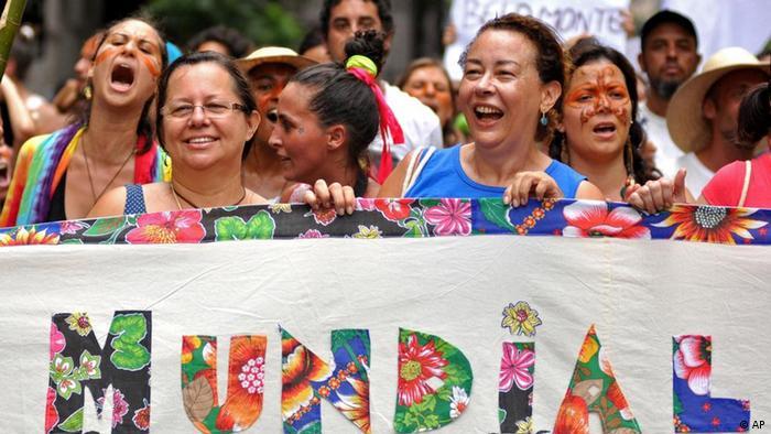 Eröffnung des Weltsozialforums 2012 in Brasilien (Foto: AP/dapd)