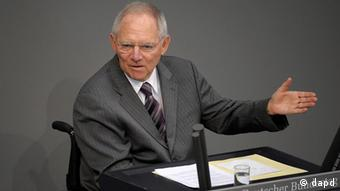 Portrait of German Finance Minister Wolfgang Schäuble