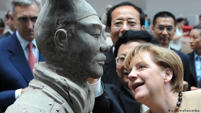 Merkel in China Terrakottaarmee Xian
