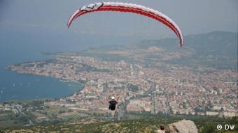 Paragliding vom Berg Galicica