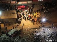 Visão geral da catástrofe no centro do Rio de Janeiro
