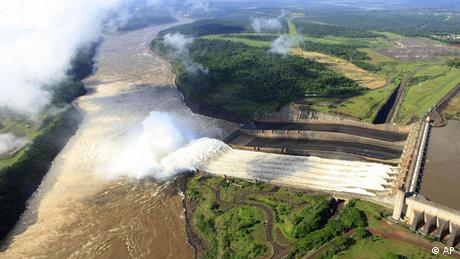 Itaipu dam along the border of Brazil and Paraguay (Picture: AP)