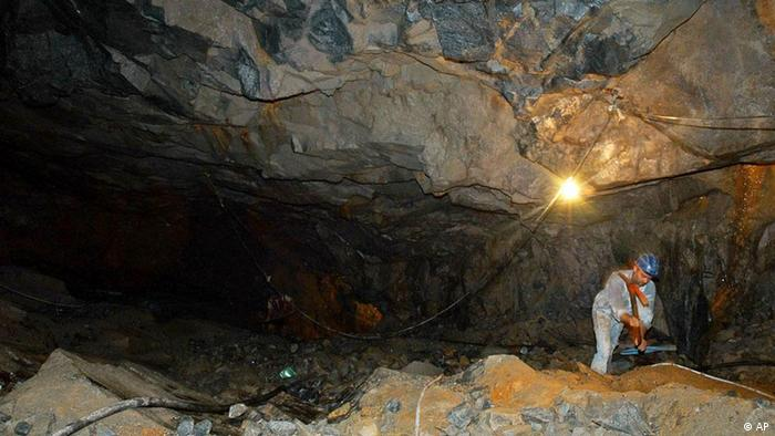 Brasilien Bergbau Mine Amazonien Ouro Verde
