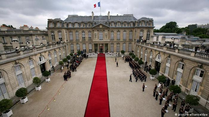 View the Elysee Palace during the inauguration ceremony for President elect NicolasSarkozy in Paris France on May 16 2007. Foto: PHOTOPQR/LE PARISIEN/LEJEUNE +++(c) dpa - Report+++