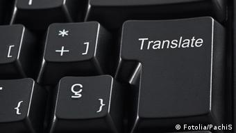 Symbolic picture showing a computer keyboard with a translate key on it