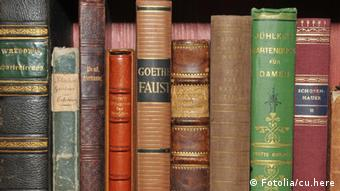 Books arranged on a shelf
