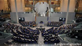 Blick in die Gedenkstunde des Bundestags (Foto:dpa)