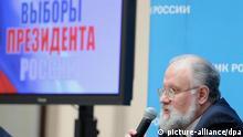 Russland Leiter der Wahlkommission Vladimir Churov in Moskau