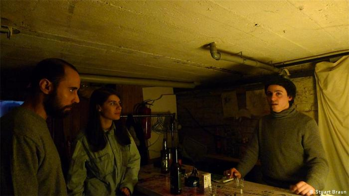 Basement dreaming: Oscar and Pablo from Madrid (and Sirarpi from Armenia) at their Berlin gallery