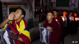 Tibet China Tibeter Protest Demonstration Gewalt Indien