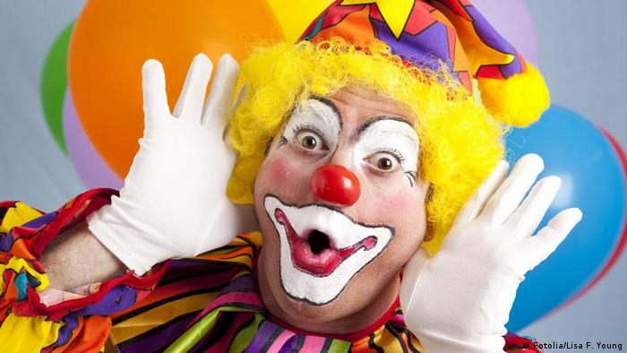 Clown making a funny face