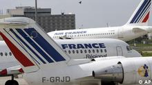 Air France Flugzeuge am Roissiy-Charles de Gaulle Flughafen Paris