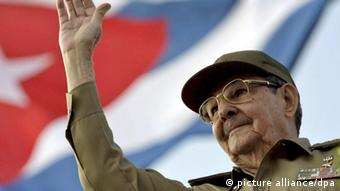 Raul Castro bei Maidemonstration