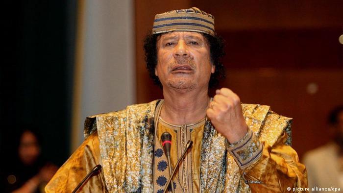 Gaddafi bei einem AU-Gipfel 2006.