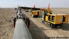 Bau einer Erdgas-Pipeline in China