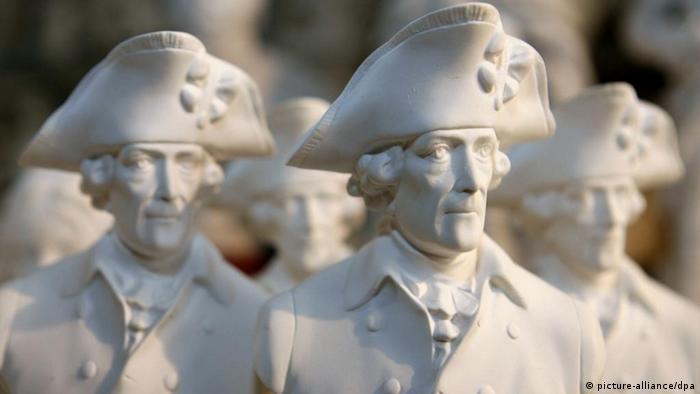 Les articles à l'effigie de Frédéric II se vendent comme des petits pains en cette année du tricentenaire