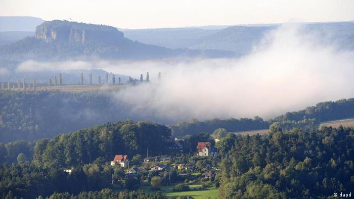 ''Саксонская Швейцария'' - первая из почти двухсот Швейцарий, насчитывающихся по всему миру