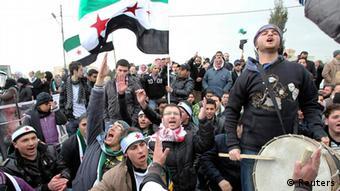 Syrien Protest gegen Assad
