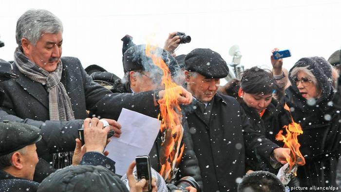 Амиржан Косанов на акции протеста против нечестных выборов в 2012 году