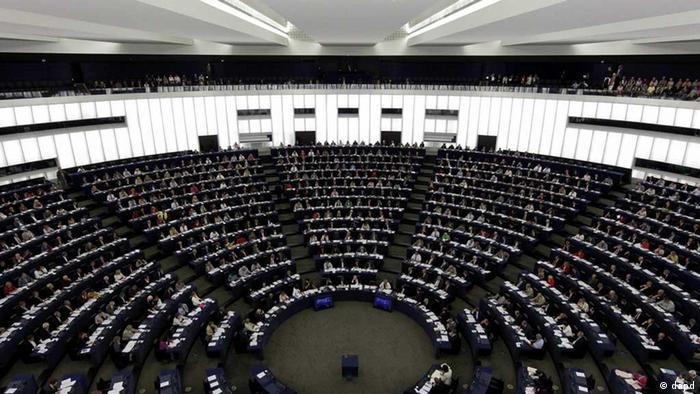 Foto vom Plenarsaal in Straßburg (Foto: dapd)