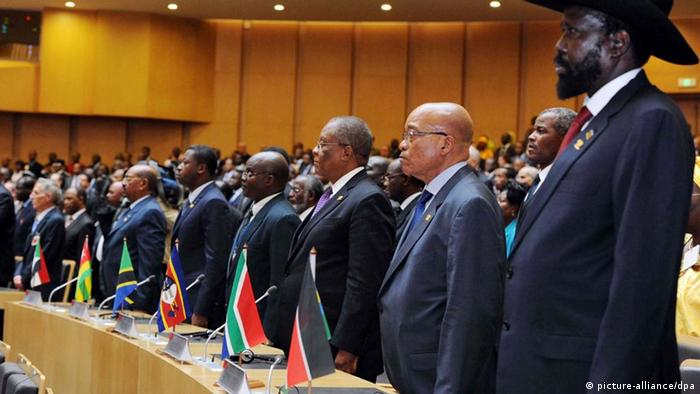 A line up of African heads of state at a 2012 AU summit