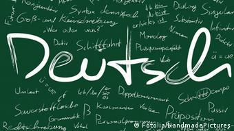 'Deutsch' written on a chalkboard Copyright: Handmade Pictures #30716692