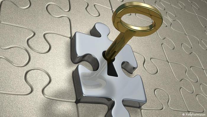 Schlüssel Puzzle Schloß
