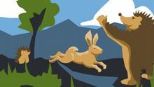 شوخی بدجنسانه جوجه تیغی با خرگوش