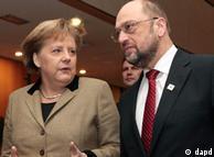 Η Α. Μέρκελ με τον πρόεδρο του Ευρωκοινοβουλίου Μάρτιν Σουλτς