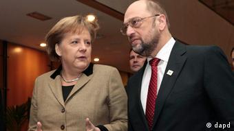 EU-Gipfel Brüssel Januar 2012 Martin Schulz Angela Merkel