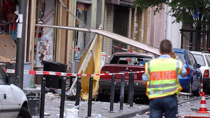 Aftermath of bomb attack in Cologne