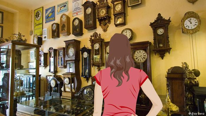 Can anyone in the clockmaker's shop help Anna?
