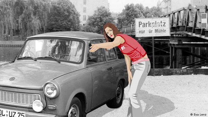 آنا تبحث عن وسيلة تنقل