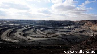 A mine pit in Bayan Obo, north China's Inner Mongolia Autonomous Region, October 27, 2010.
