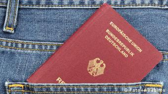 A German passport in someone's pocket