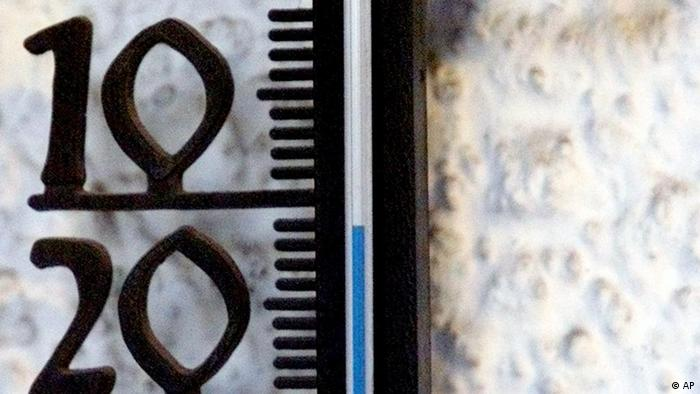 A thermometer shows minus 11 degrees Celsius