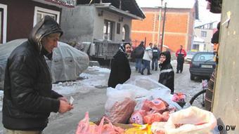 Pamje nga lagjeja rome në Leskovc