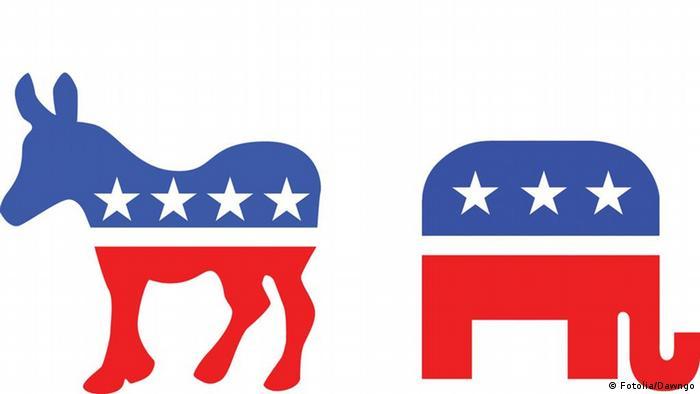 неофициальные символы Демократической и Республиканской партий США