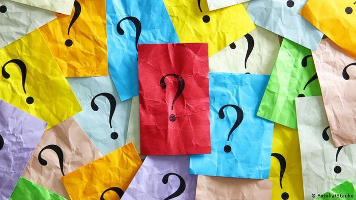 Fragezeichen Fragen über Fragen
