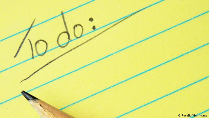 Image of a handwritten to-do list (Photo: Fotolia/Mellimage)