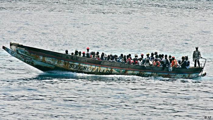 A small boat with 75 would-be immigrants arrives in Los Cristianos, on the Canary island of Tenerife, Spain